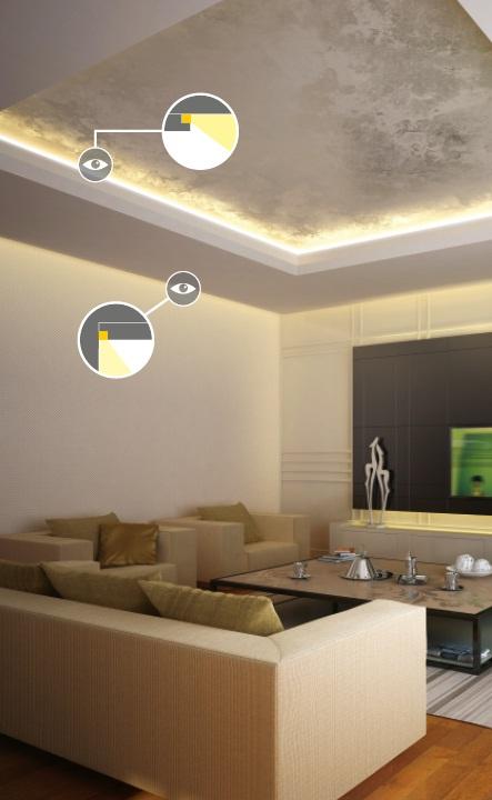 profilo led per cartongesso frame14 vendita illuminazione