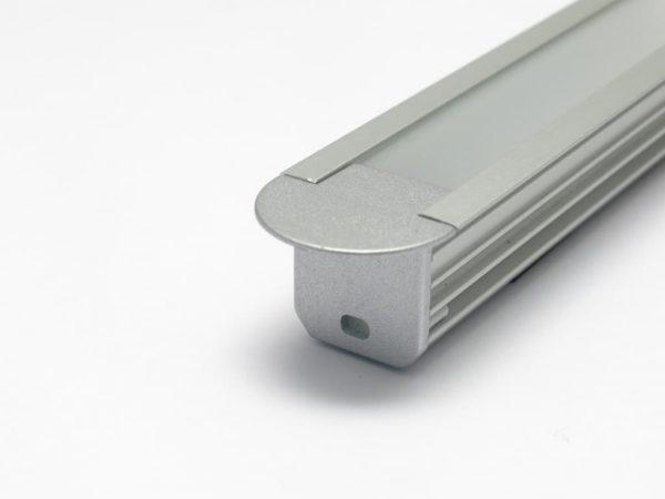 Profilo led alluminio da incasso con terminale