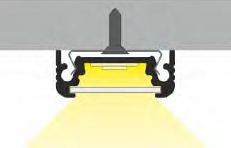 angolo di illuminazione profilo led surface