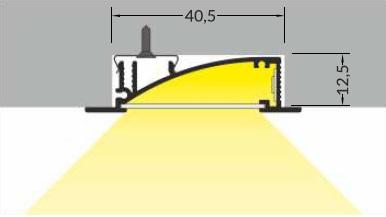 angolo illuminazione profilo cartongesso flat