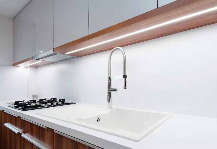 Profilo led da pavimento kit montaggio vendita illuminazione - Luci a led per cucina ...