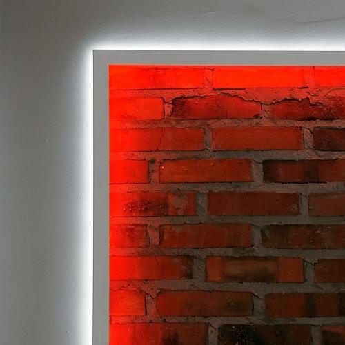Applicazione profilo led parete