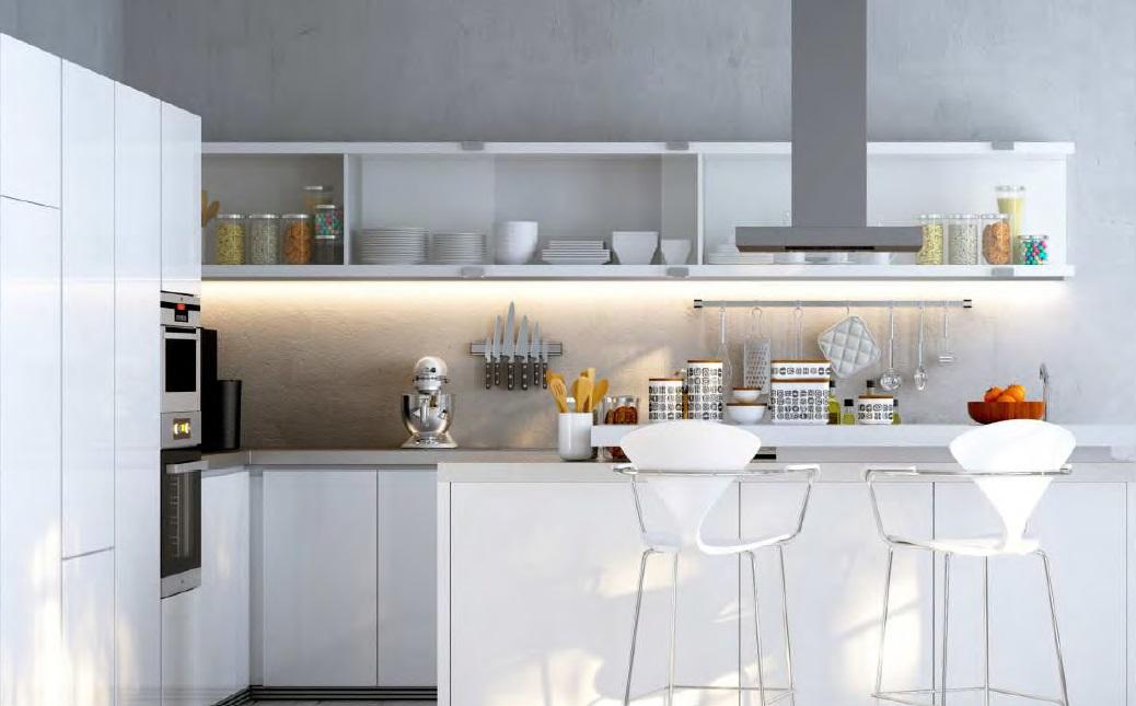 Profilo led da sottopensile in alluminio vendita illuminazione - Illuminazione sottopensile cucina ...