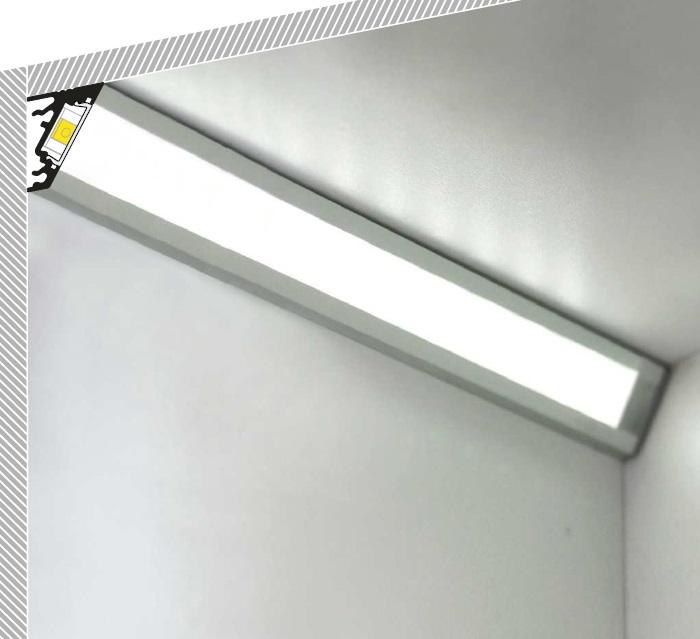 Profilo led angolare 30 60 gradi vendita illuminazione - Barre a led per interni ...