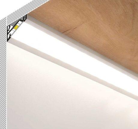 Profilo angolare alluminio per strisce led corner14 kit for Led a strisce