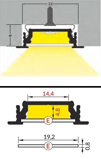 dimensioni profilo led groove14