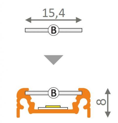 dimensioni profilo led surface