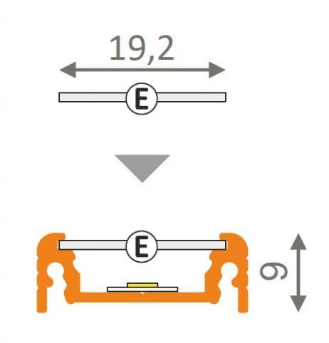 Dimensioni profilo led surface14