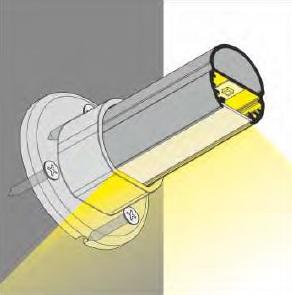 fascio di illuminazione profilo led oval