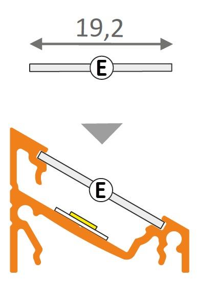 Misure profilo angolare alluminio per strisce led
