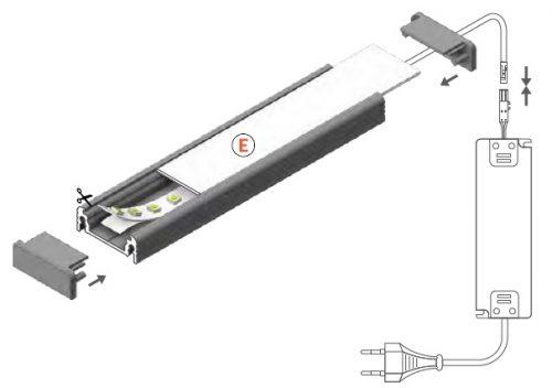 montaggio profilo led surface14