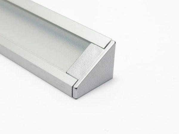 Profilo angolare alluminio strisce led terminale