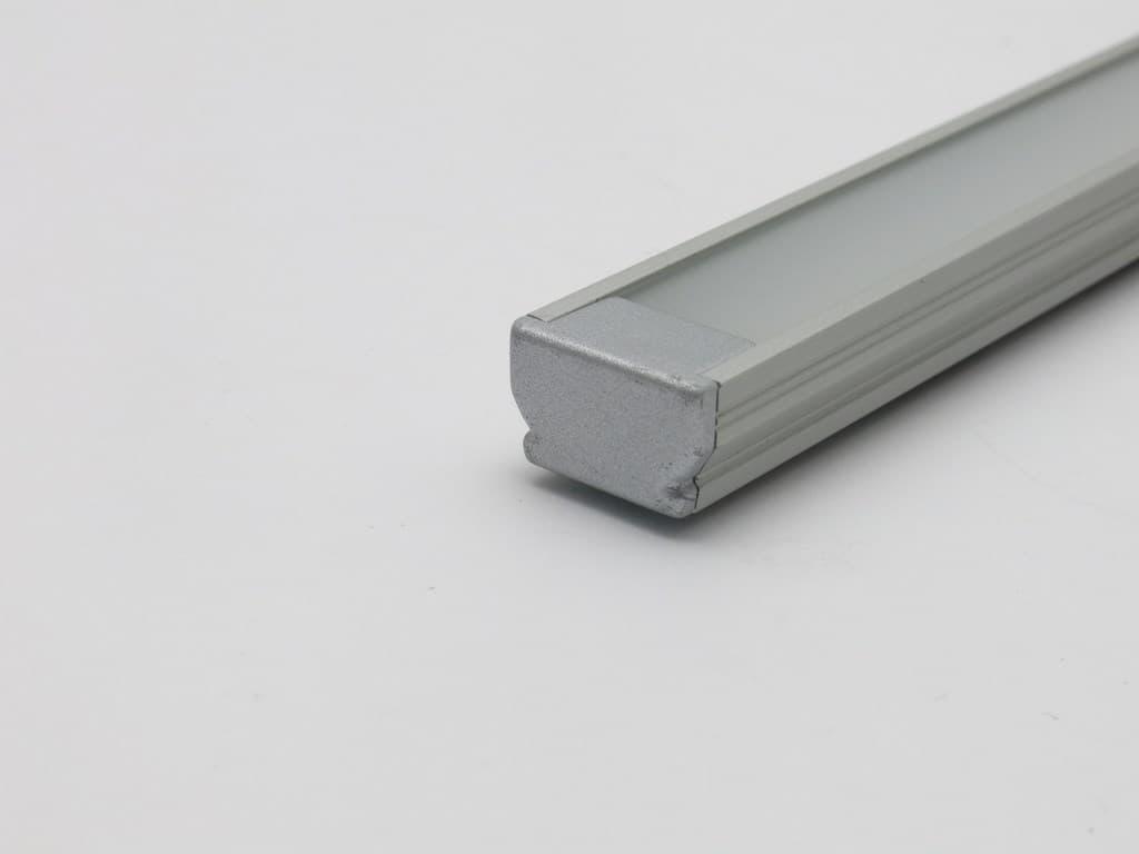 Profilo piatto alluminio con terminale