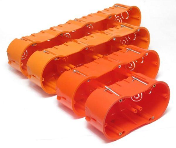 Scatole per cartongesso da 2 a 5 posti