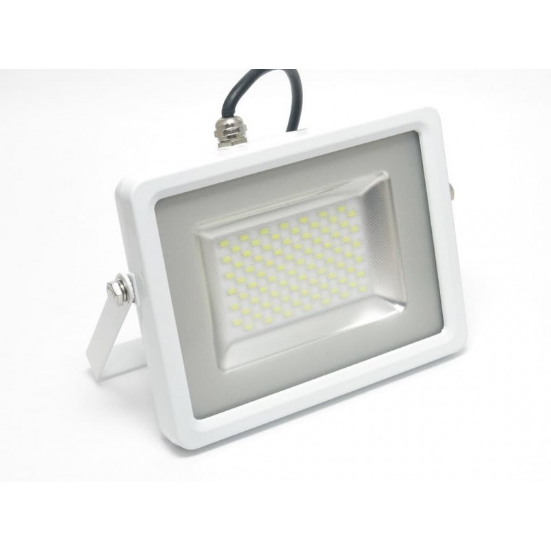Faro led 50w slim luce fredda 4000 lumen v tac vt 4850 for Fari led per interni