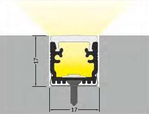 angolo di illuminazione profilo led calpestabile floor