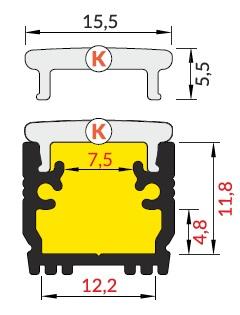 dimensioni profilo led floor12