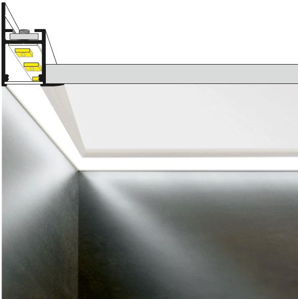 profilo led per cartongesso frame14 | vendita-illuminazione