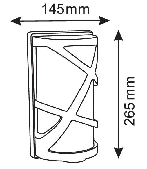 lampada da parete led per esterno misure