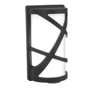 lampada da parete led per esterno nera
