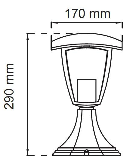 lampada led da terra misure