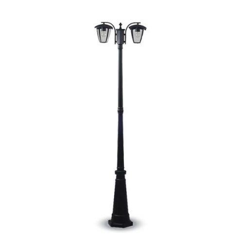 lampione da giardino led a due lampade