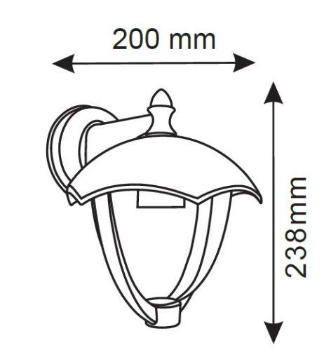 lanterna led da parete facing down