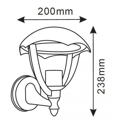 lanterna led da parete facing up