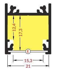 Misure barra led a sospensione linea20