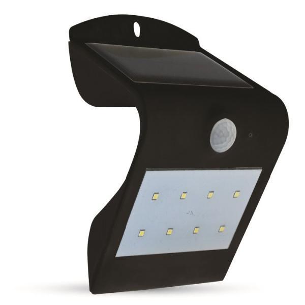 Lampada Votiva Con Pannello Solare : Lampada led con pannello solare e sensore da parete v tac