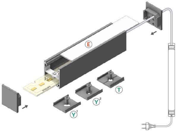 montaggio barra led linea20