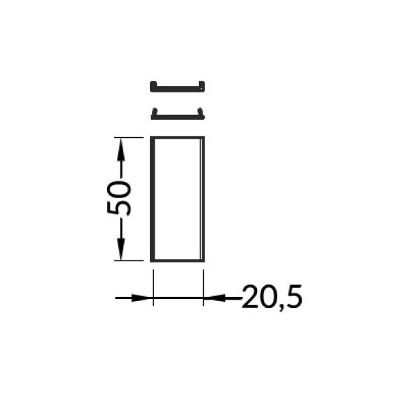 connettore angolare 180 gradi linea20