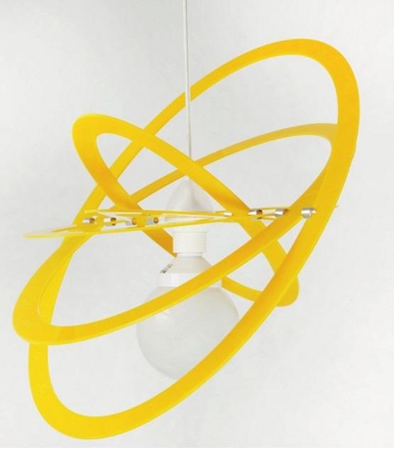 lampadario giallo