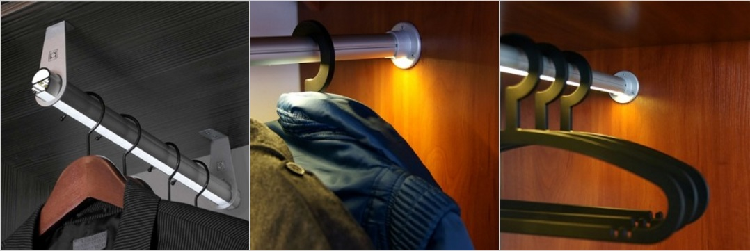 illuminazione appendiabiti cabina armadio