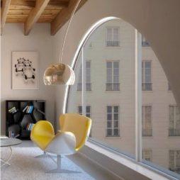 profilo led flessibile montato ad arco