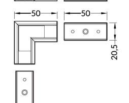 connettore angolare profilo led surface14
