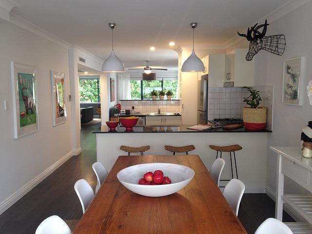 illuminazione cucina open space