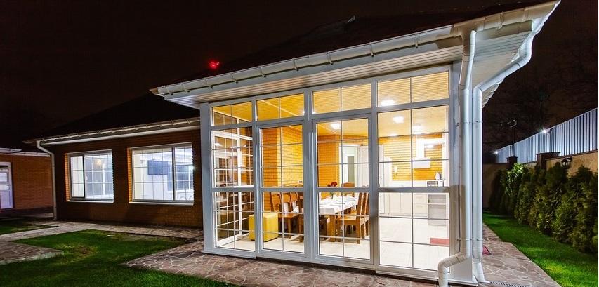 illuminazione veranda