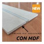 Freccia led in cartongesso con MDF_