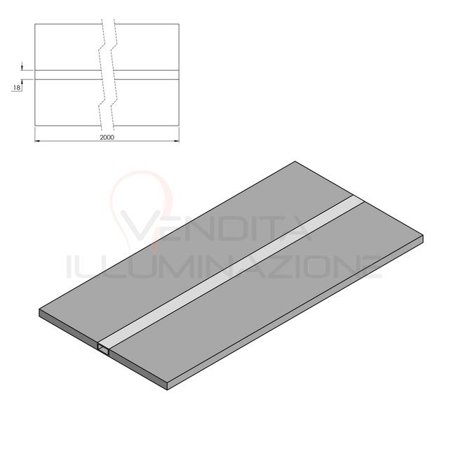 freccia led per cartongesso 20 cm