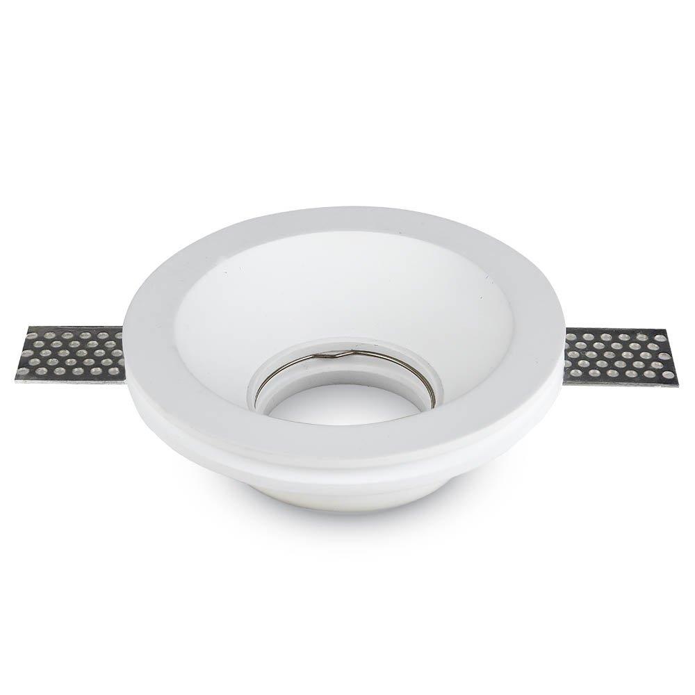 V-TAC VT-776 Portafaretto LED da Incasso RotondoCorpo in Gesso Bianco – SKU 3640