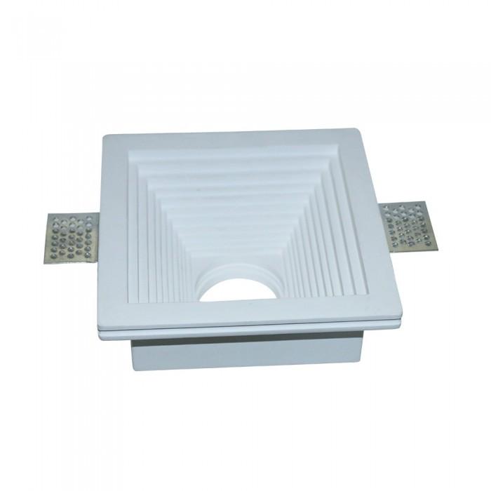 V-TAC VT-867 Portafaretto LED da Incasso Quadrato Corpo in Gesso Bianco – SKU 3151