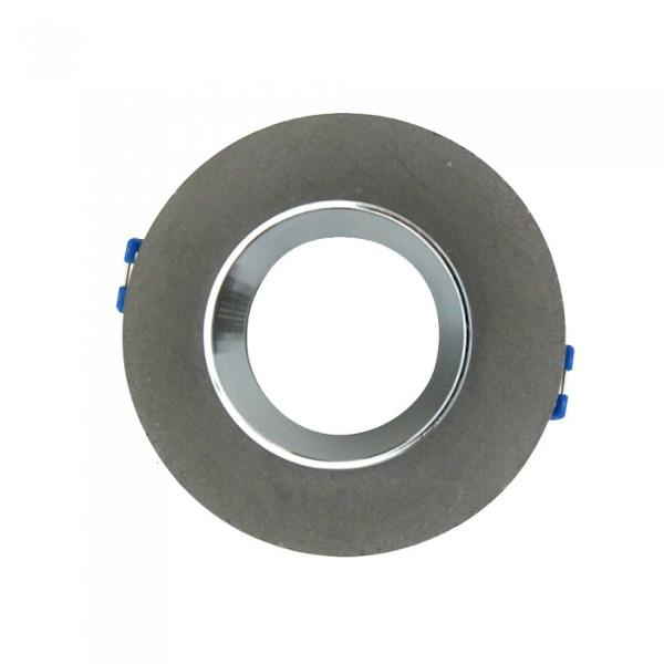 VT-862-MG 3128 faretto led rotondo in gesso grigio e anello cromato