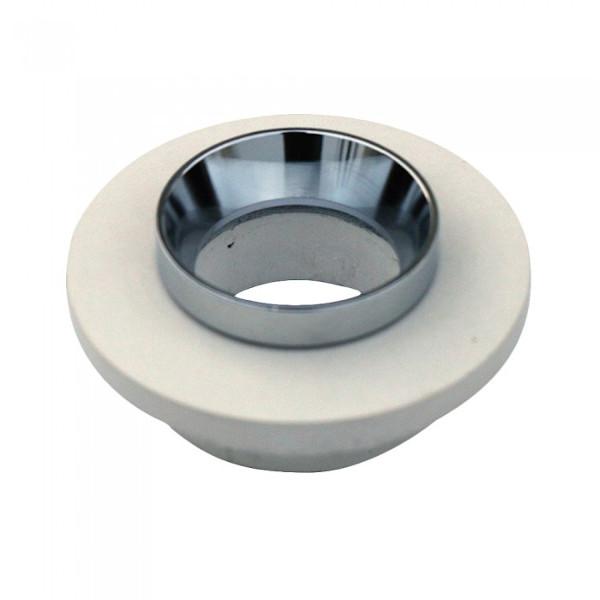 VT-862-MRD faretto led rotondo in gesso bianco e anello cromato