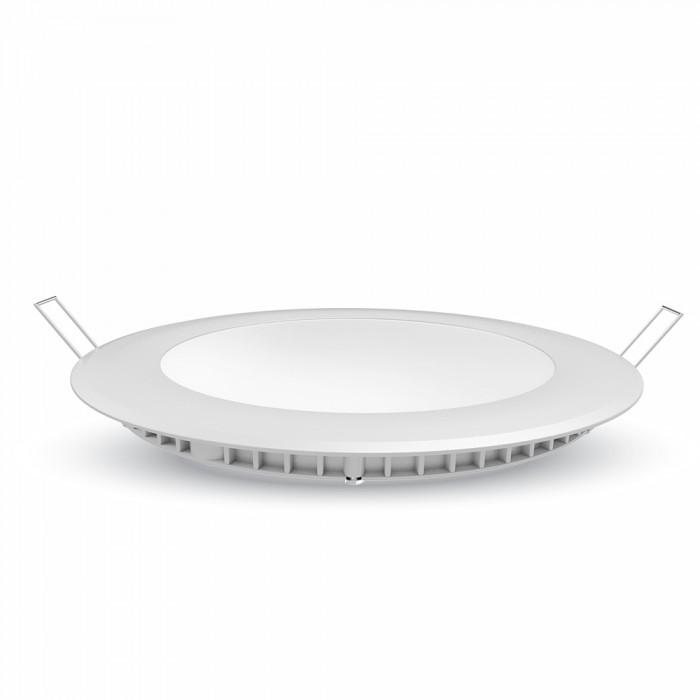 Mini Pannello LED VT-612 Chip Samsung 12W Montaggio ad Incasso Rotondo