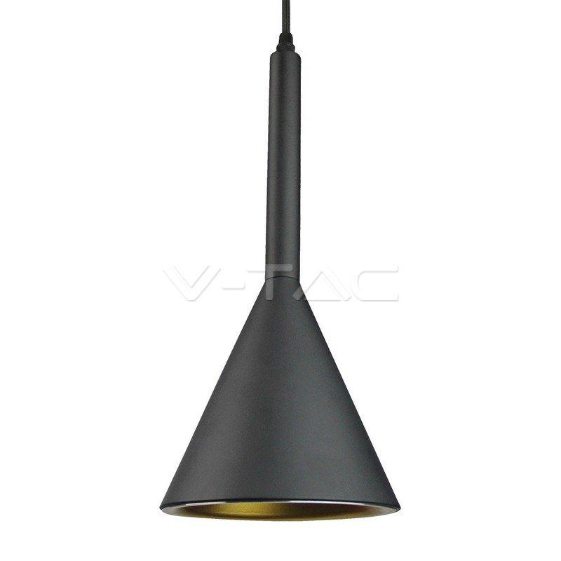 VT-7162-B Lampadario LED a Cono in Metallo Satinato con Portalampada E27