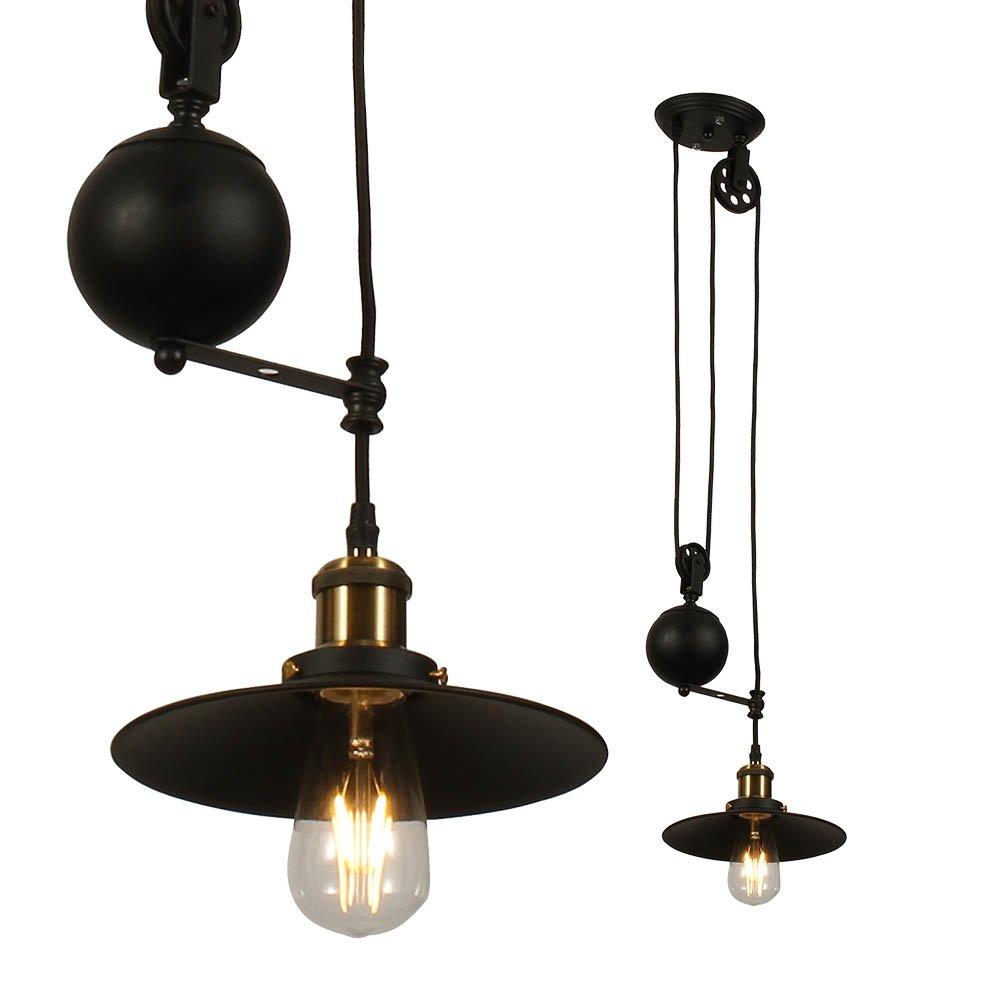 VT-7201 Lampadario LED in Metallo ad Altezza Regolabile con Portalampada E27