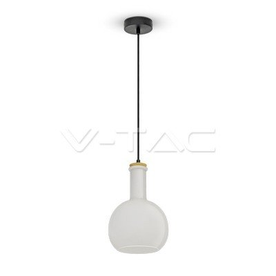 VT-7205 Lampadario LED in Vetro e Legno con Portalampada E27