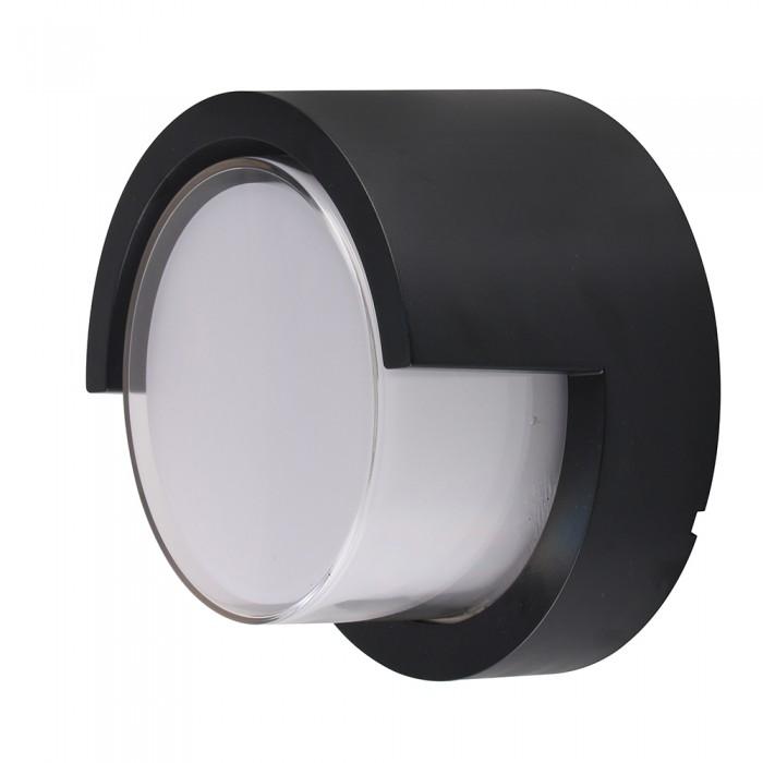 VT-827 Lampada LED da Muro Rotonda 12W nero