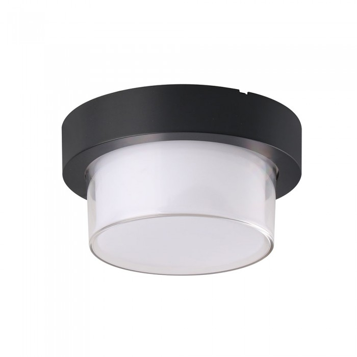 VT-831 Lampada LED da Muro Rotonda 7W Colore Nero